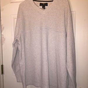 Mens Warm Grey Fleece Top
